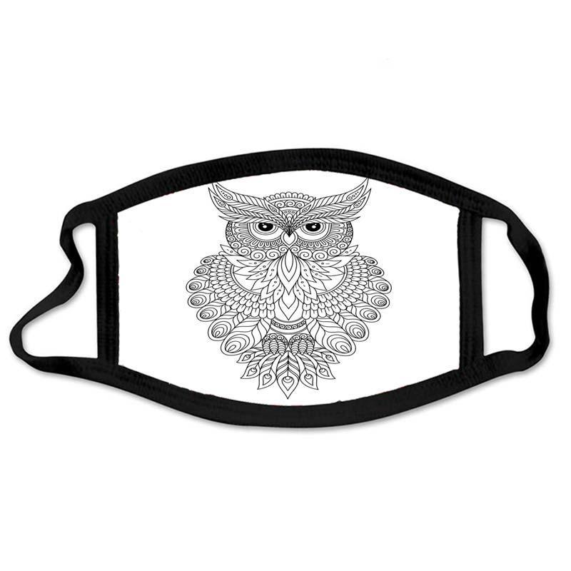 Maschera ornamentale ornamentale per la maschera decorativa della maschera decorativa del Gufo del Gufo del Bambino del Gufo del Bambino adulto della maschera di cotone adulto