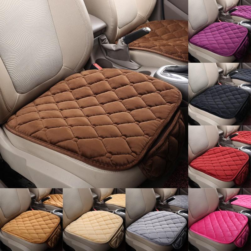 Autositz deckt Plüsch Backless Cars Accessoires Rutschfeste einzelne Kissen mit Pocket Rhombus Muster Mode 7 5RP G2