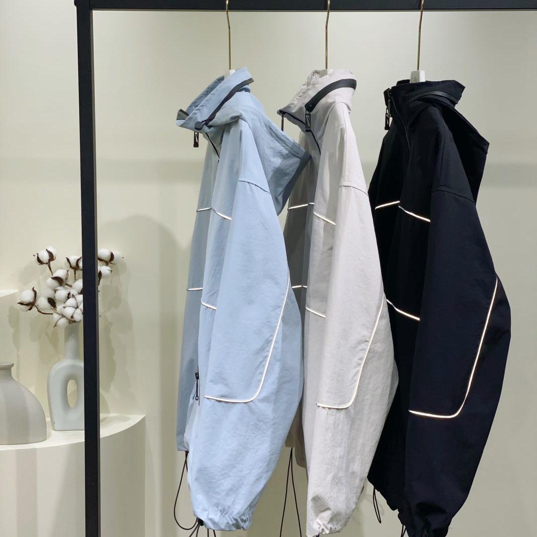 stormsuit 2020 Чжана Beibei новых свободные и универсальный короткие пальто женщин жареной улица BF Светоотражающие пары