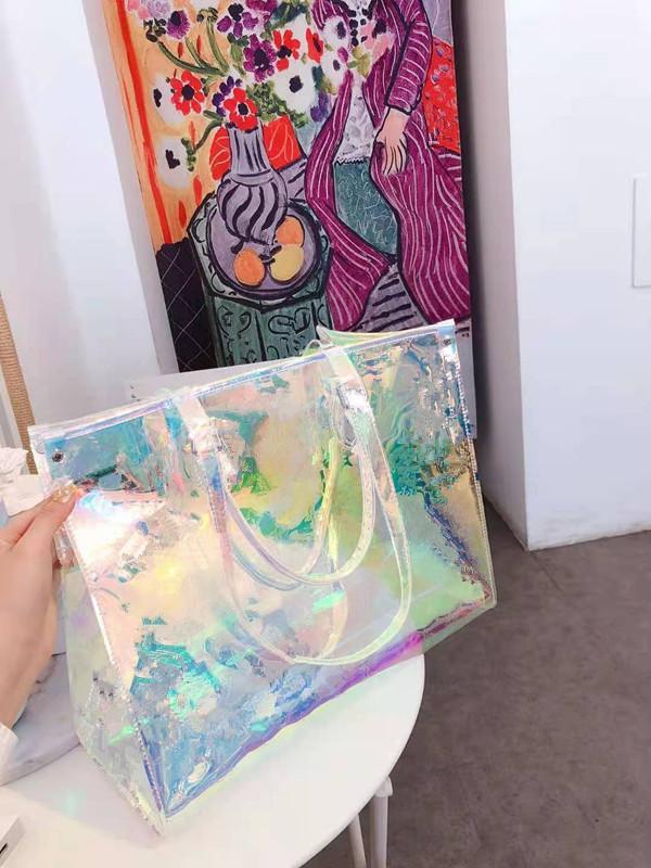 Сумка 2020 сумка сумка цветные пресбиопные сумки портативные лазерные ослепления новые девушки плечо женщины женские сумки прозрачное плечо wmdxa