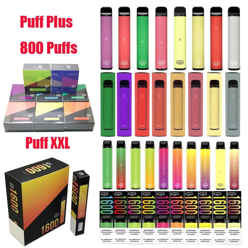 퍼프 바 플러스 뱅 XXL 일회용 vape 전자 담배 키트 펜 포드 800 1600 2000 퍼프 E Cigs 키트