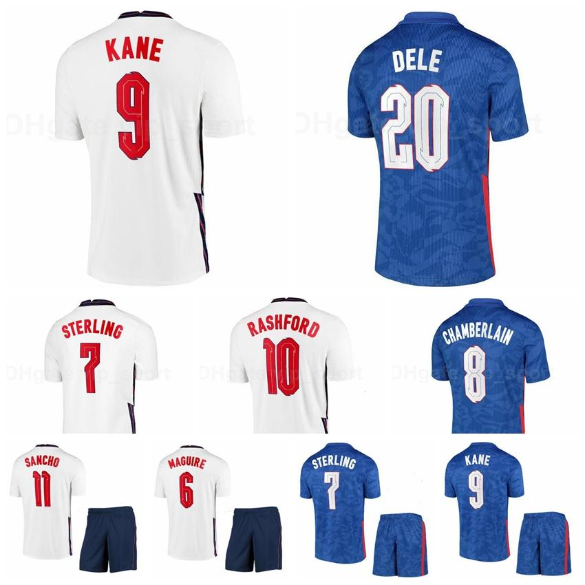 National Team Men Kids Soccer 7 Raheem Sterling Jersey 9 Harry Kane 8 Ross Barkley Mount Chilwell Walker Dele Camicia da calcio Kit Y-G-L