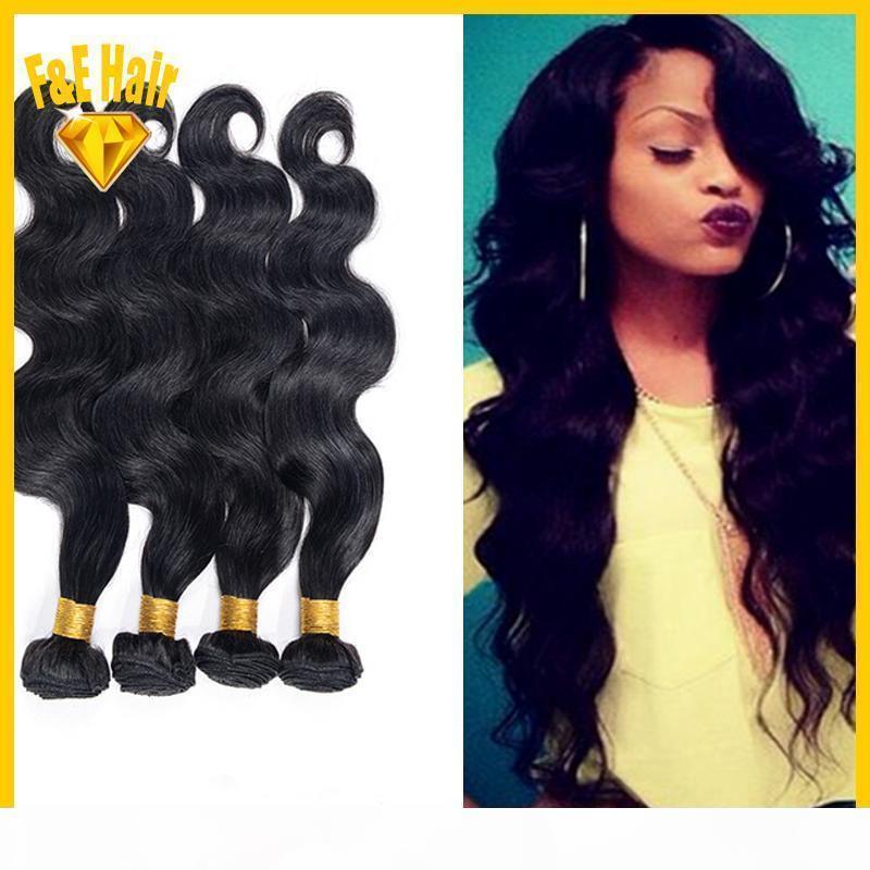 7A barato peruano brasileño cabello humano 4 paquetes de onda corporal tejido virgen Artículo mejor vendedor para el cabello Extensiones de cabello virgen