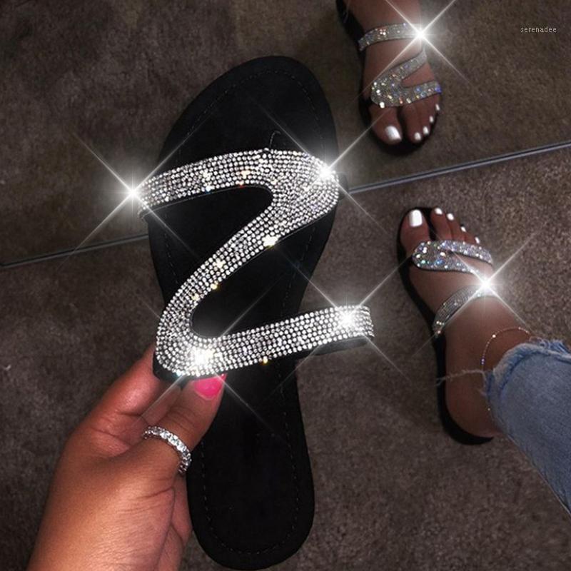 Frauen Sommer Bling Hausschuhe Sandalen Weibliche Flip Flops Wohnungen Transparente Weiche Gelee Schuhe Outdoor Beach Damen Slides Plus Size1