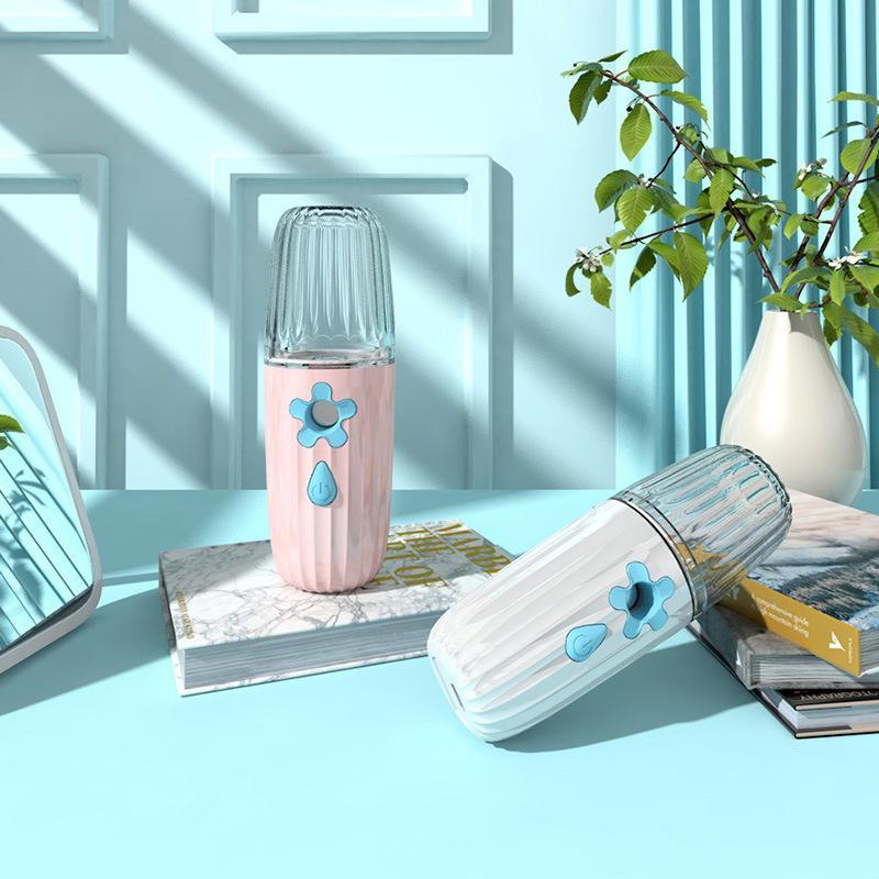 Handheld Wasserversorgungsinstrument Blume Tröpfchenförmige Dekor Gesicht Dampfgerät Nanometer Spray Luftbefeuchter Kosmetische USB-Lady 7 7lf G2