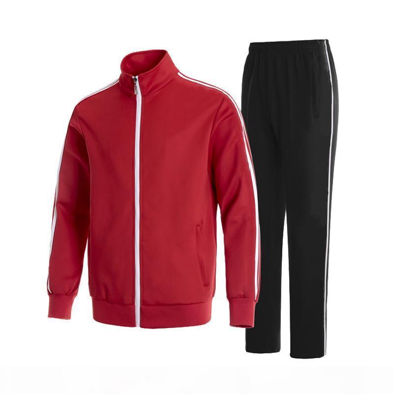 Mens Tracksuits Classic Sportswear Tracksuit 긴 소매 캐주얼 조깅 바지 정장 의류 2 피스 세트 아시아 크기