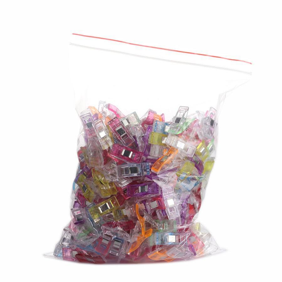DIY خليط مقاطع الخياطة المشابك متعدد الألوان البلاستيك مقاطع هيمينغ الخياطة أدوات الخياطة اكسسوارات الحرف