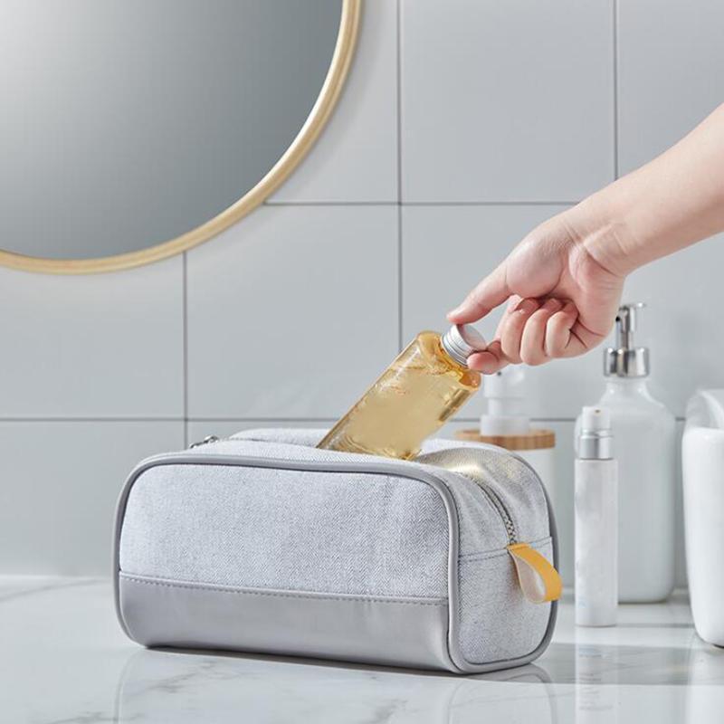 Donne da uomo Borsa da toilette di grandi dimensioni Borsa da toilette impermeabile da viaggio Borsa cosmetica con manico portatile universale multifunzione