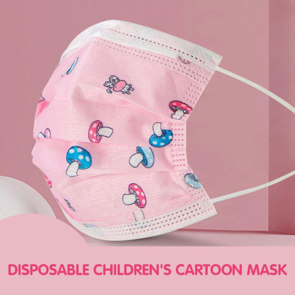 Designer per bambini Designer Designer Maniuso Monouso Cartoon traspirante comodo e maschera Designer Face