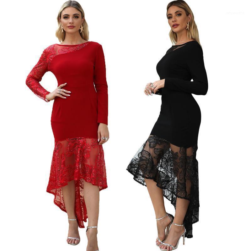 KM8059 Европа и Соединенные Штаты женские новые спичечные платья Amazon независимый стенд жесткий платье1