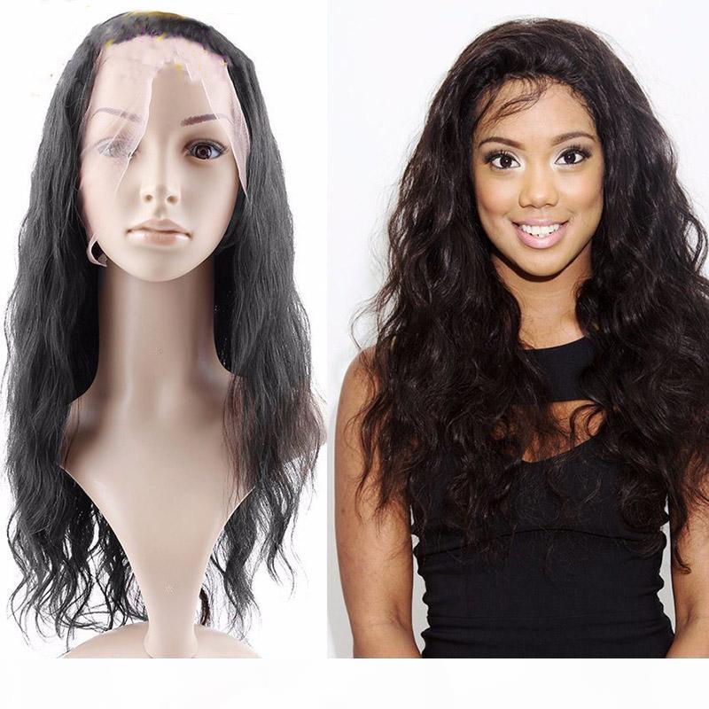 Beauty 100% brasilianische menschliche haare 360 spitze frontalperücken mit baby haar natürliche welle vorgepftete spitze frontperücken für schwarze frauen