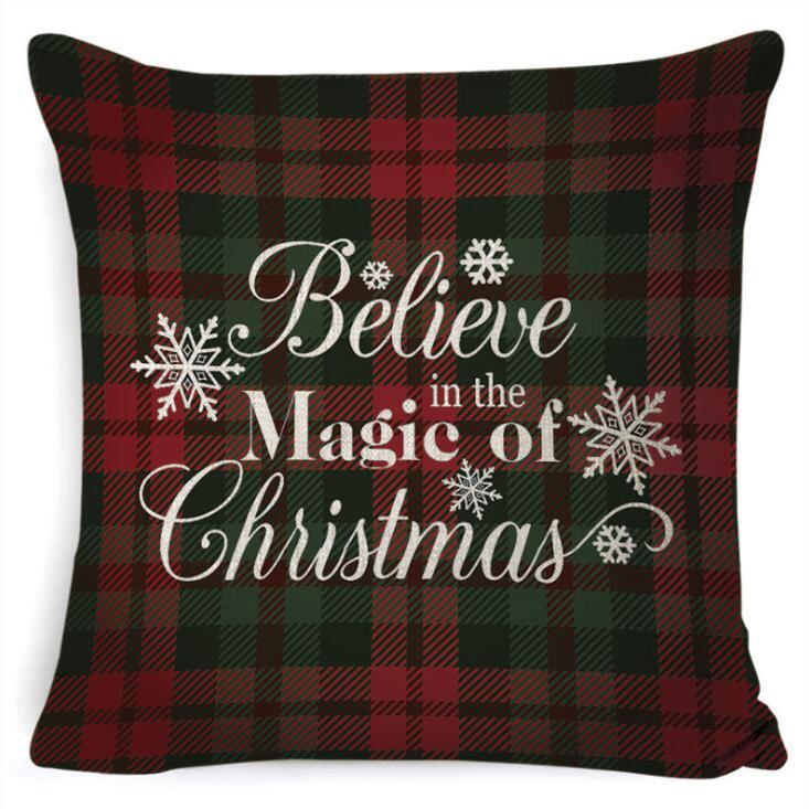 Caso de Christmas Caso Manta Roubo Traseiro Travesseiro Cobre Sofá Quadrado Travesseiro Decorativo Cabeça de Cabeça Capa de Almofada Xmas Pillowslip Home Decor DDC35