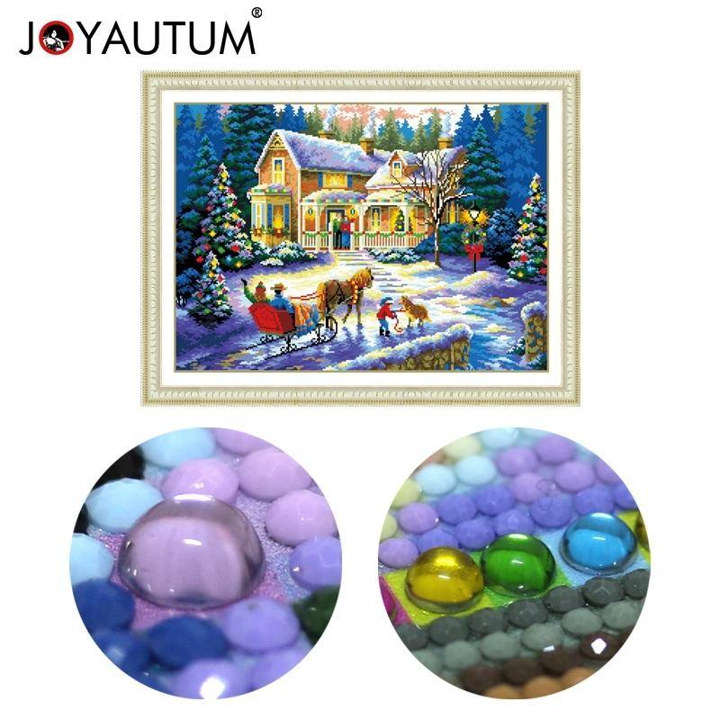 special shaped diamond painting 5d 3d diamond embroidery mosaic crystal stones beaded cross stitch kits scenery Christmas70*50cm 201128