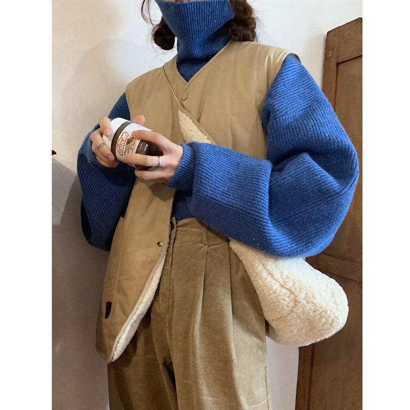 Теплый и положительный осенью и зимой может носить жилет ретро ягненка волосы бабушка Пальто теплая удобная девушка мода милая пальто