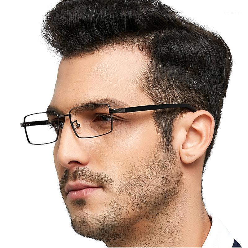 Moda Gafas de sol Marcos Occi Chiari Gafas Hombres Gafas ópticas Marco Azul Luz Bloqueo Metal Prescripción Eyewear Gafas Myopia1