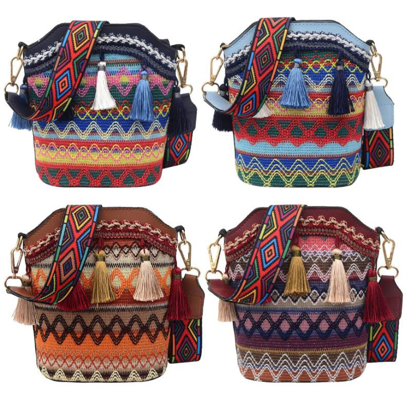 Borsa nazionale Ricamo Boho Tote Spalla Messenger Styetnic 012701 Messenger Tote Vintage Retro Hippy Crossbody Bag UMQPP