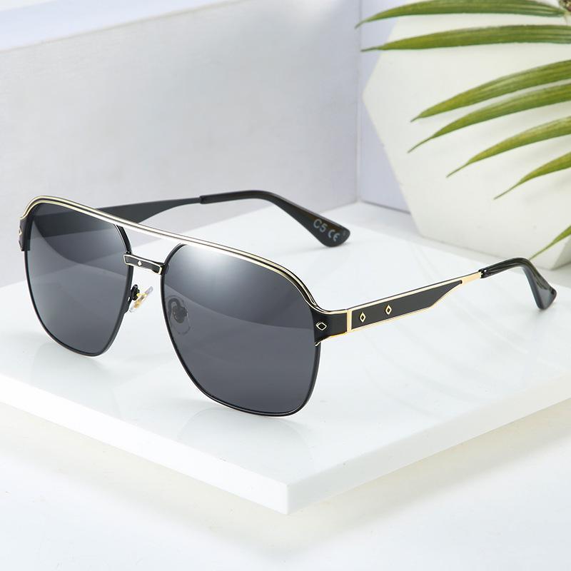 BeyondStar Classic Square Shades 2020 Óculos Moda Beam Mens for Design Brand Double Sunglasses Sun Homens Gafas 100% UV400G50582 CSMKE