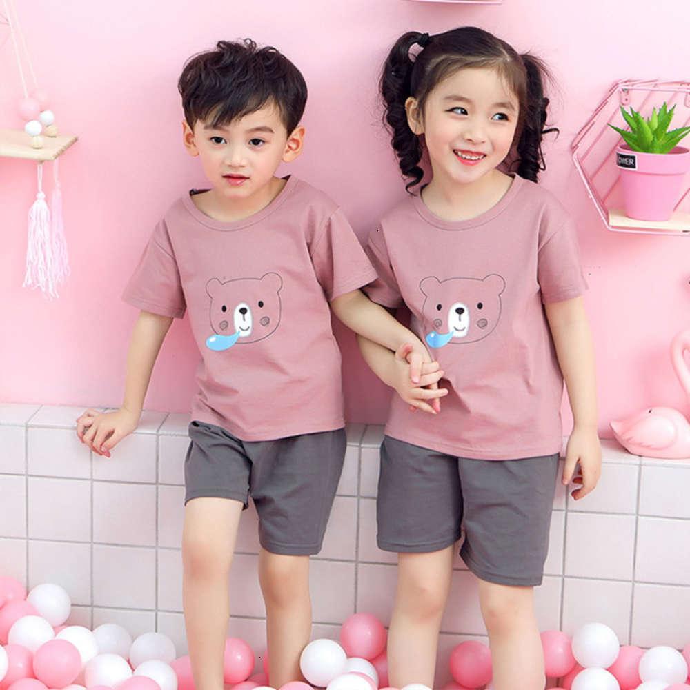 Nouveau T-shirt pour enfants de Nouveau-Brève pour enfants 2020 Vêtements de pyjama à la maison