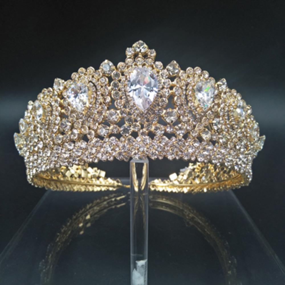 Hadiyana New Bling Wedding Crown Diadem Tiara mit Zirkonia Kristall Elegante Frau Tiaras und Kronen für Pageant Party BC3232 Y1130