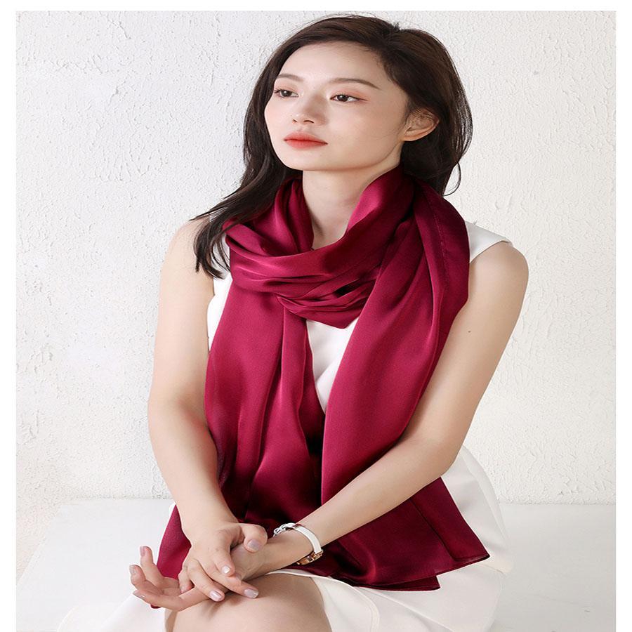 Fashion- 2021 Новая мода Реальный шелковый шарф Сохраняйте теплый шарф высококачественный шарф Silk стиль аксессуары простых ретро аксессуары для женщин