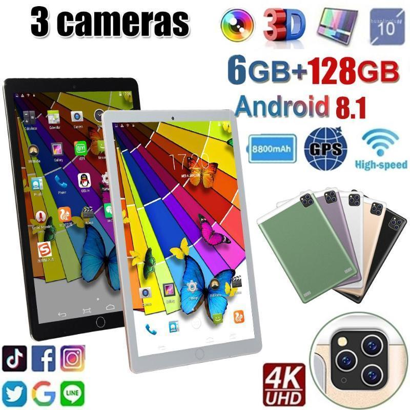 Tablet PC Est 10 Inch Android 8.0 Octa Core 6GB RAM 128GB ROM 3G 4G FDD LTE Wifi Bluetooth GPS Phone Call Glass Screen Pc1