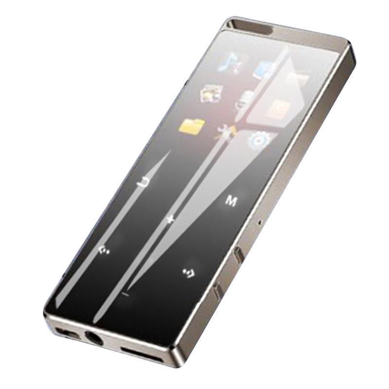 Mini BT Сенсорный экран MP3 Музыкальный проигрыватель 8 ГБ Спортивный HiFi Музыкальный проигрыватель Аудио видео с зарядным кабелем