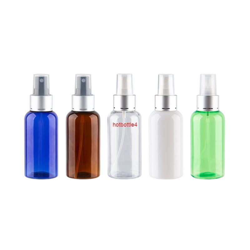 75 ml x 30 Gümüş Alüminyum Püskürtücü Parfüm Şişeleri Doldurulabilir Pet Seyahat Sis Şeffaf Yeşil Mavi Bottlesgood Qualtit