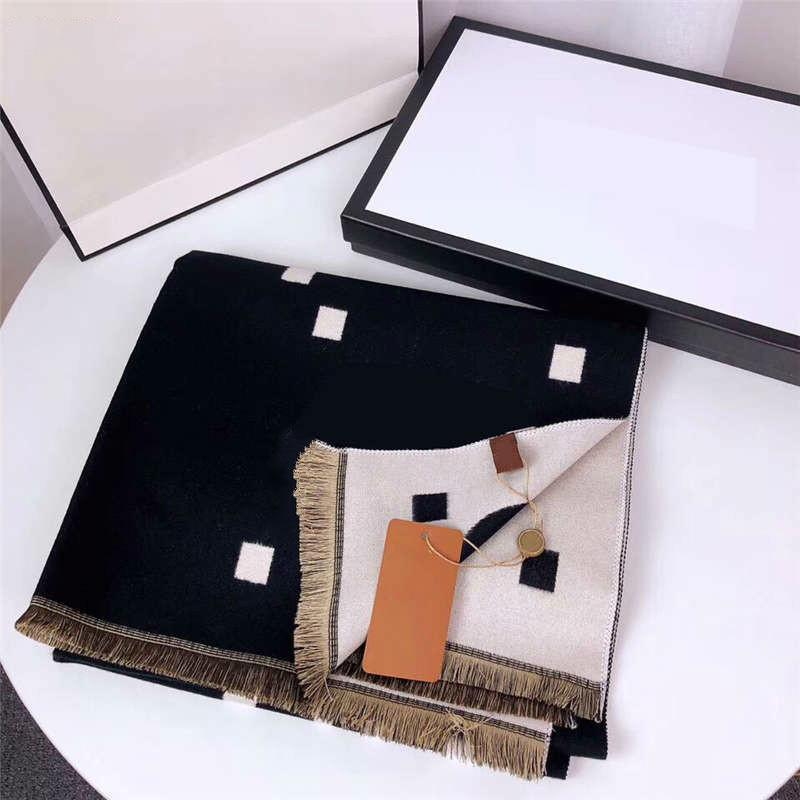 2021 New top inverno moda mulheres lenço de seda novo chegada homem mulheres 4 estações xaile lenço letras letras lenços tamanho 190x65cm top qualidade