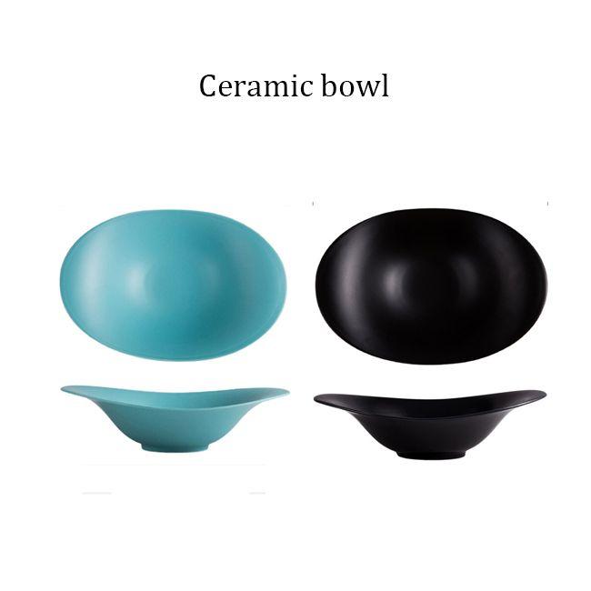 Чаша макаронные изделия, сплошной цвет керамической твердой цветовой чаши фруктовые салатные чаши сашими набор