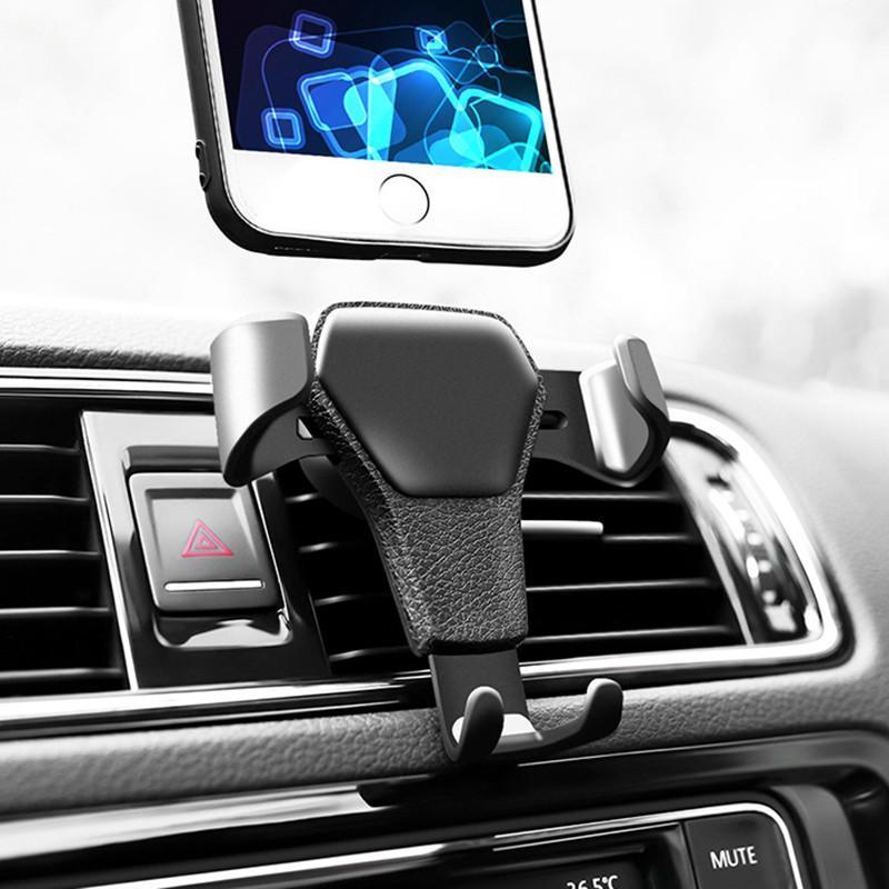 Soporte universal del soporte del teléfono del automóvil Soporte de soporte de ventilación para teléfono en automóvil Sin soporte de teléfono móvil magnético con paquete de venta al por menor Venta caliente