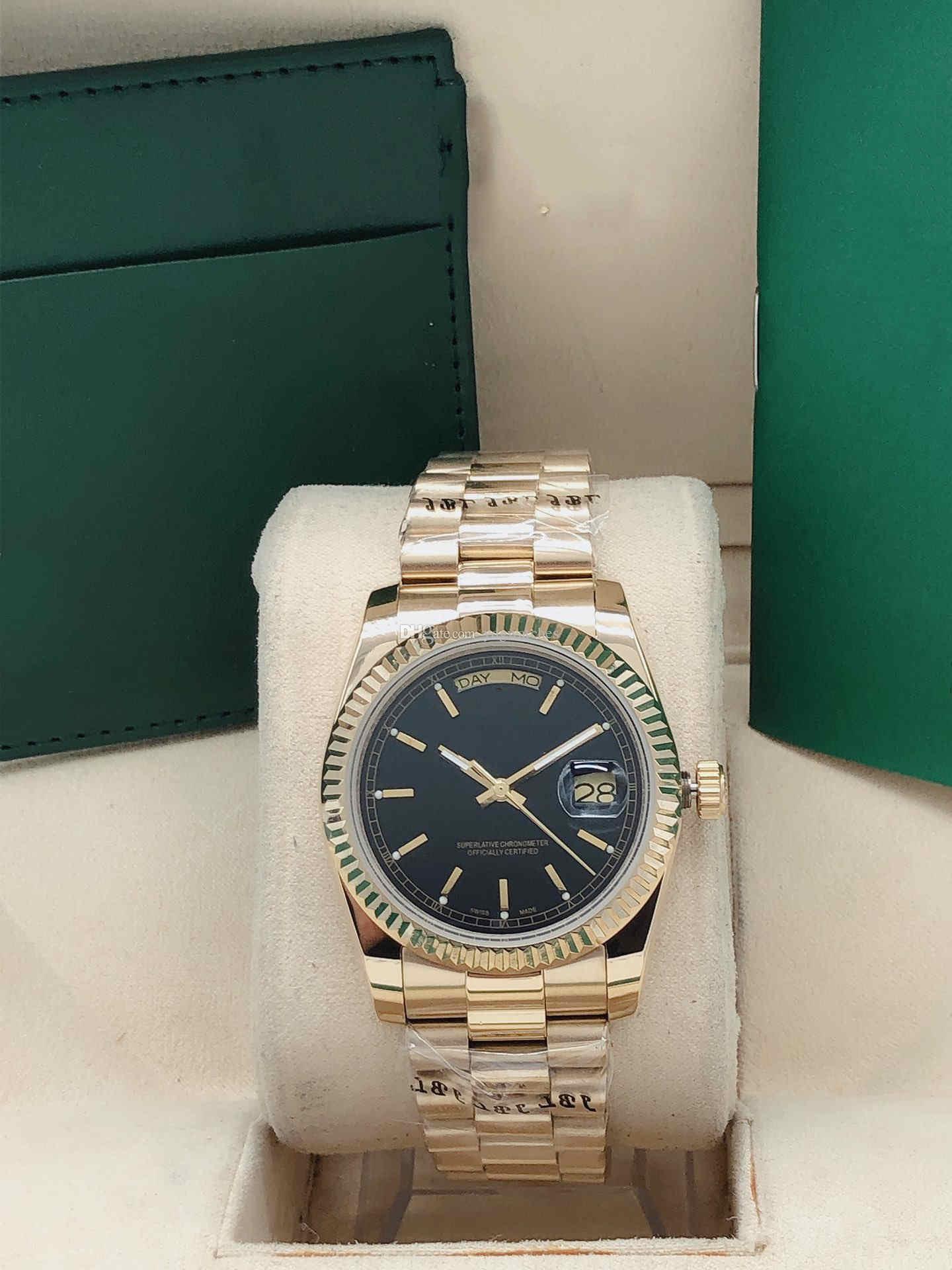 여성 시계 36mm 스테인레스 스틸 자동 기계식 시계 날짜 / 주 기능 방수 시계는 사파이어 미러를 갖추고 있습니다.