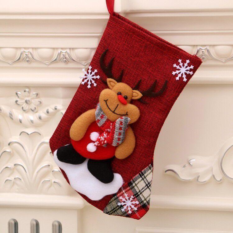 Christmas socks with snowman Santa Claus Christmas candy gift bag fireplace fireplace Christmas tree decoration New Year socks