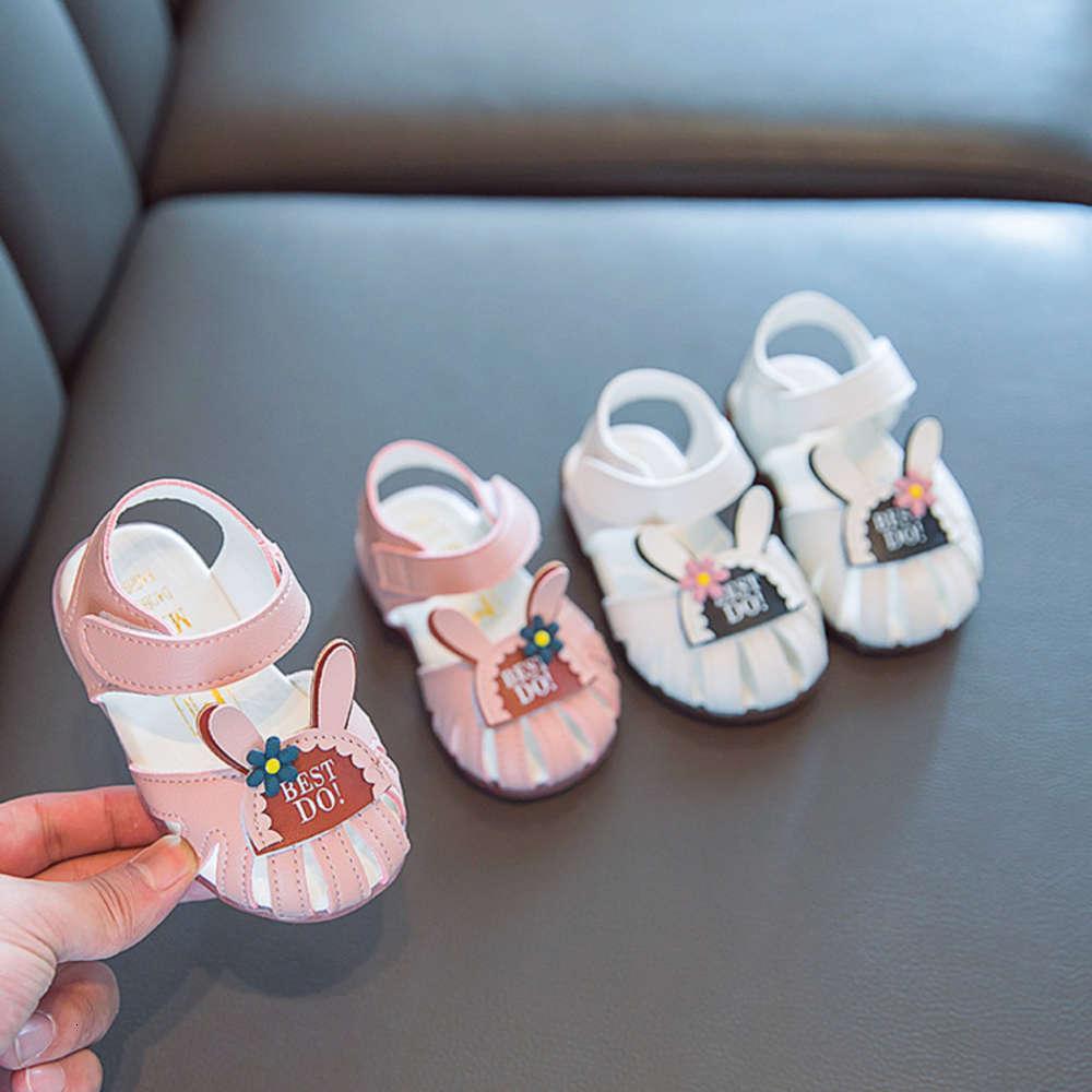 Yaz Sandalet Bebek Yürüyüş 1-3 2-Yaşlı Baotou Prenss Sho Kızlar Yumuşak Soled Çocuklar