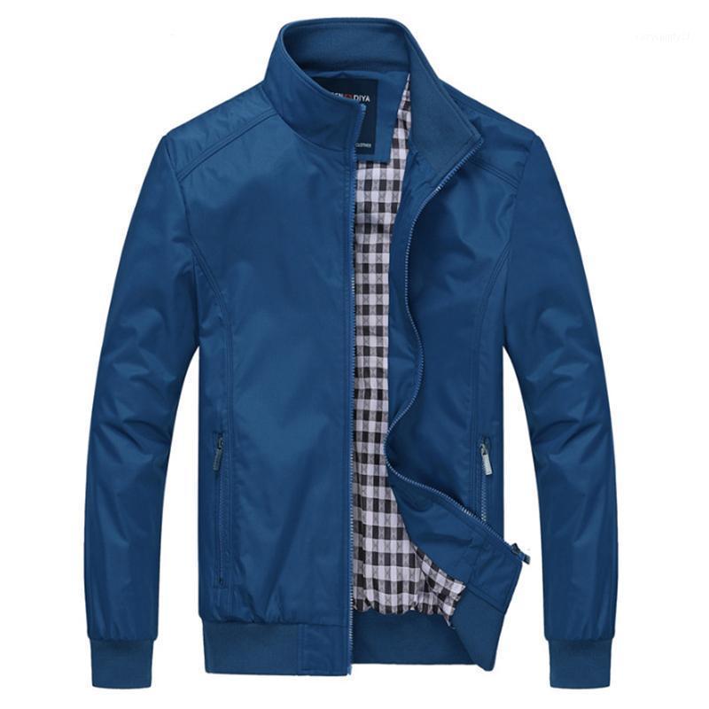 Весна осень стойки воротник мужская куртка повседневная мужская плюс размер одежды мода простое пальто мужская беседка Размер M-6xL1