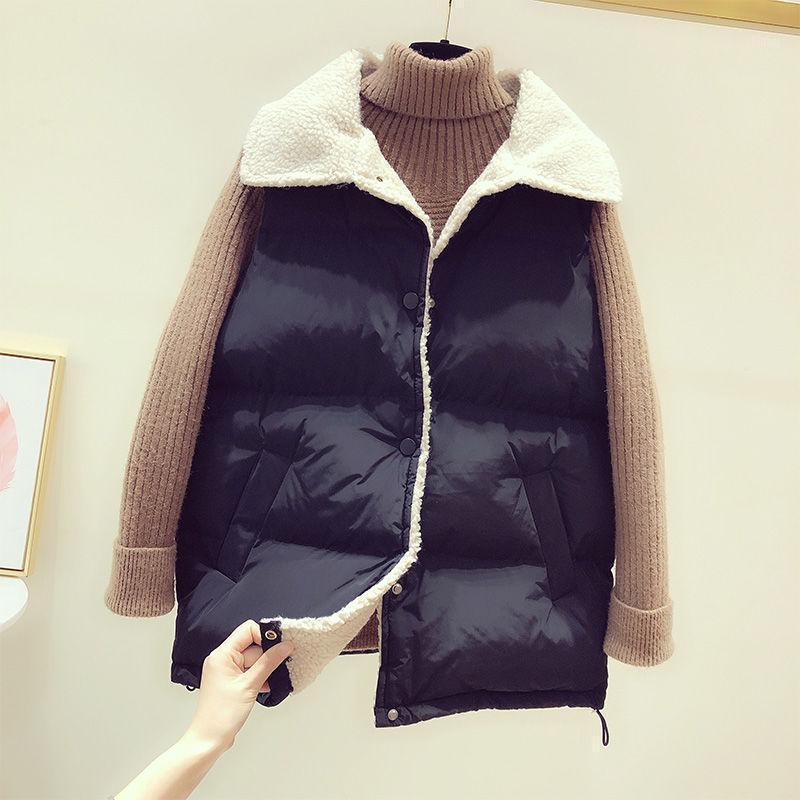 HKCP Mode Westen Frauen Casual Office Dame Solid Button Taschen Umteln von Kragen Einreiher Frauen Mäntel Herbst Winter 20211