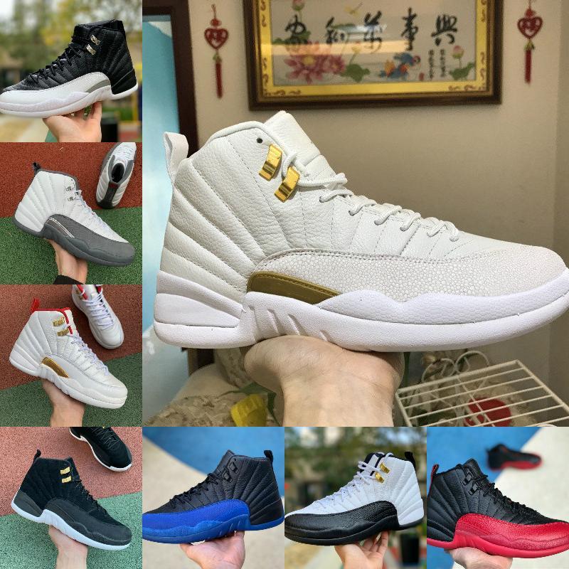 Satış YENI 12S Kışlık Wntr Spor Salonu Kırmızı Michigan Ovo Beyaz Erkek Basketbol Ayakkabıları Master Grip oyunu Taksi 12 Erkekler Spor Sneakers Eğitmenler Ayakkabı