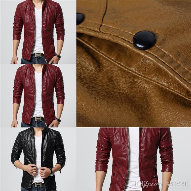 5H4 leather designer, winter new autumn and European and American leather coat new men's Autumn jacket large size personalized leather