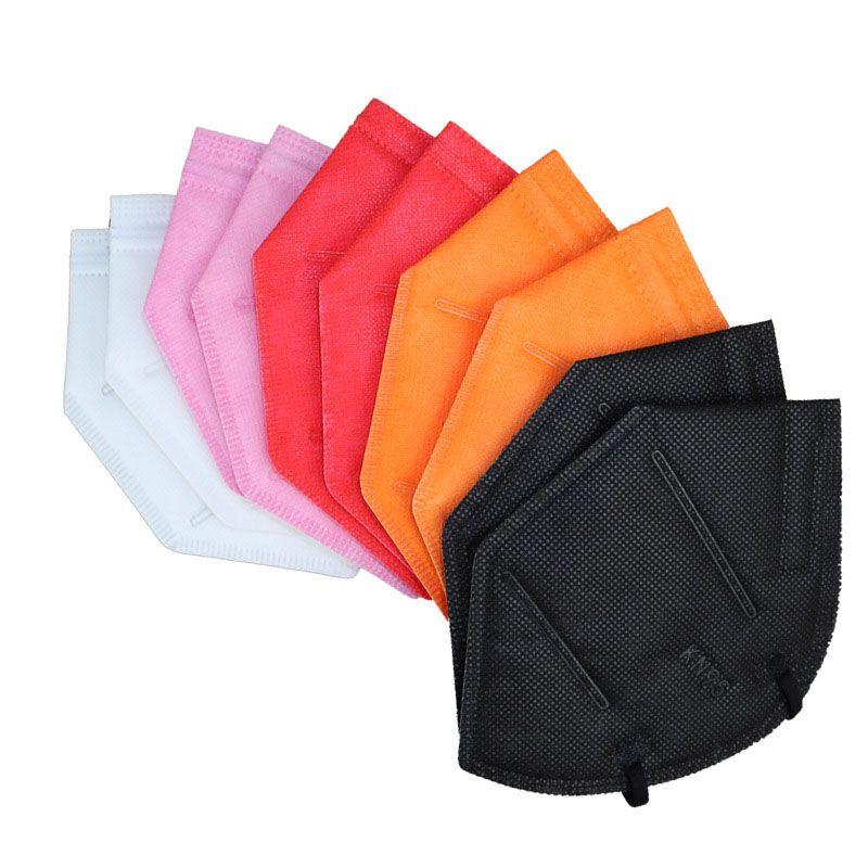 9 Цветов KN95 Маска Фабрика 95% Фильтр Красочный Активированный Углеродистый Дыхание Респиратор Клапан 5 Слой Дизайнер Маски для лица Маскарилла
