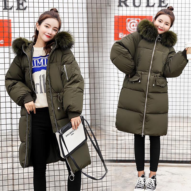 Aşağı Parka Kadın Kış Kalın Kış Giysileri Yeni Büyük Boy Kore Versiyonu Tüy Aşağı Ceket 835 201202