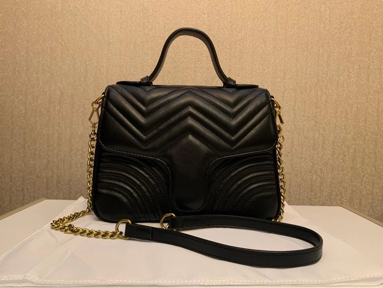 Venta caliente Nuevo marmont bolso de hombro señora en forma de corazón cadena de oro bolsa de mensajero PU de cuero de cuero bolso de mano Lady Messenger Bag A1