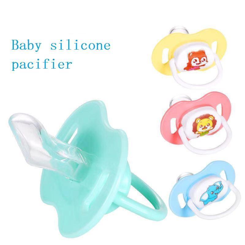 Pacifiers # Мультфильм Детские силиконовые соску Успокаивающие младенцы Укус Принадлежности Born Comfort Ambest Nipple Flat Tout Pacifiers с крышкой