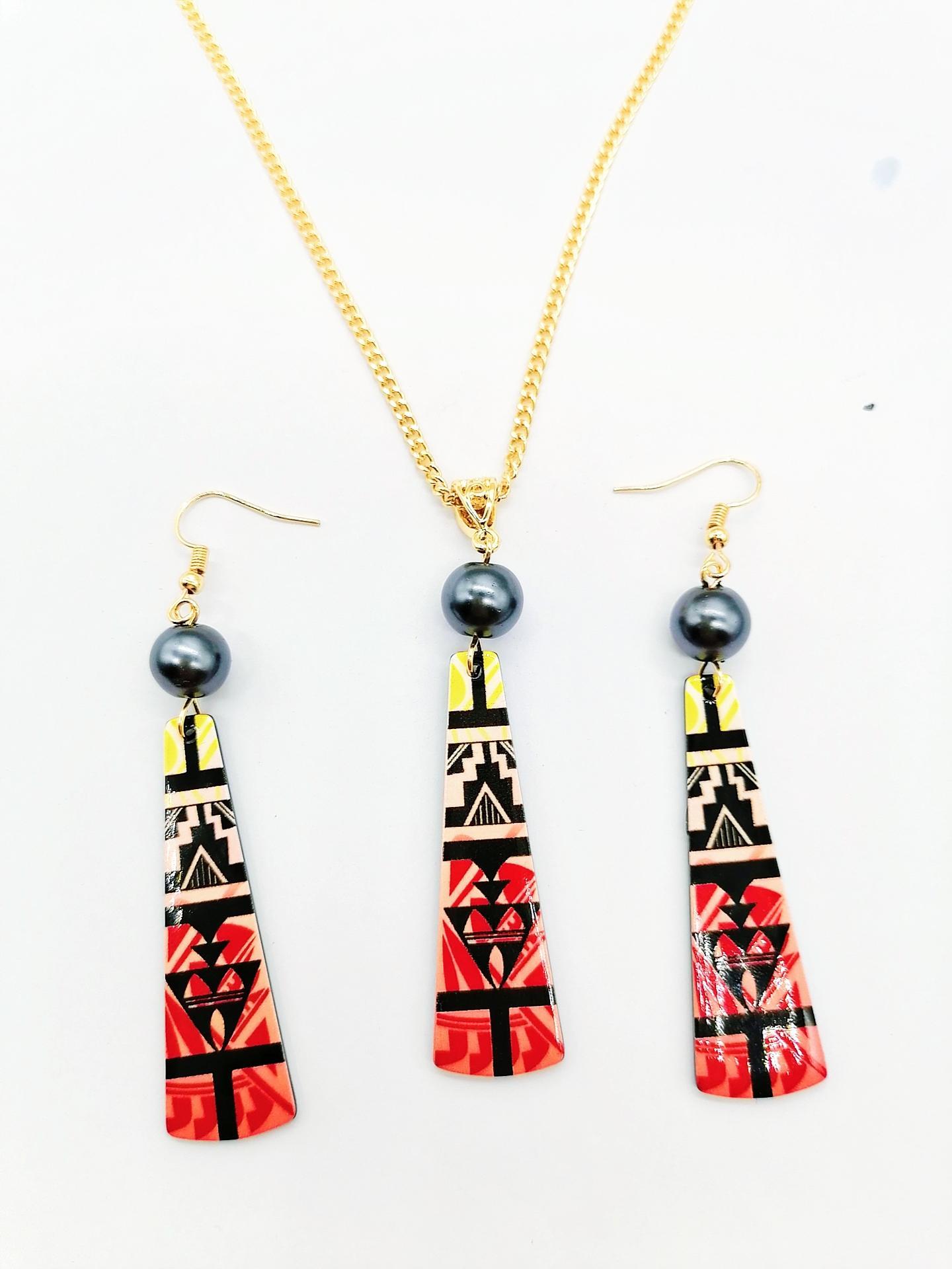 Gioielli Set di orecchini per vacanze moda penzolando barra rossa bar acrilico accessori goccia a goccia hawaiani set per le donne regali partito