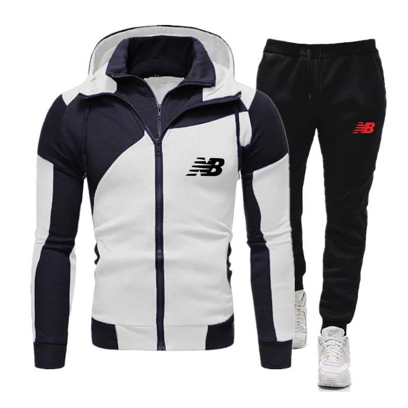 20 Yeni Erkekler Moda Çizgili Uzun Kollu Hoodies Pantolon Set Erkek Eşofman Spor Takım Elbise Erkek Spor Salonları Set Rahat Spor Takım Elbise Q1216