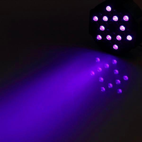 Sconto U'King 72W LED Purple Light DJ DJ KTV Pub Pub Effetto effetto LED Materiale di alta qualità LED Stage Light Voice Control