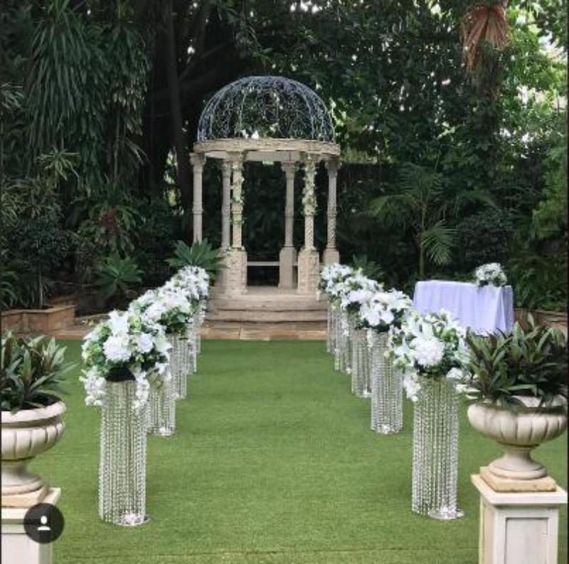 Toptan Lüks Düğün Koridor Kristal Sütunlar Düğün Geçit Standı Centerpiece Parti Noel Düğün Dekor için Standı 120 cm Uzun boylu