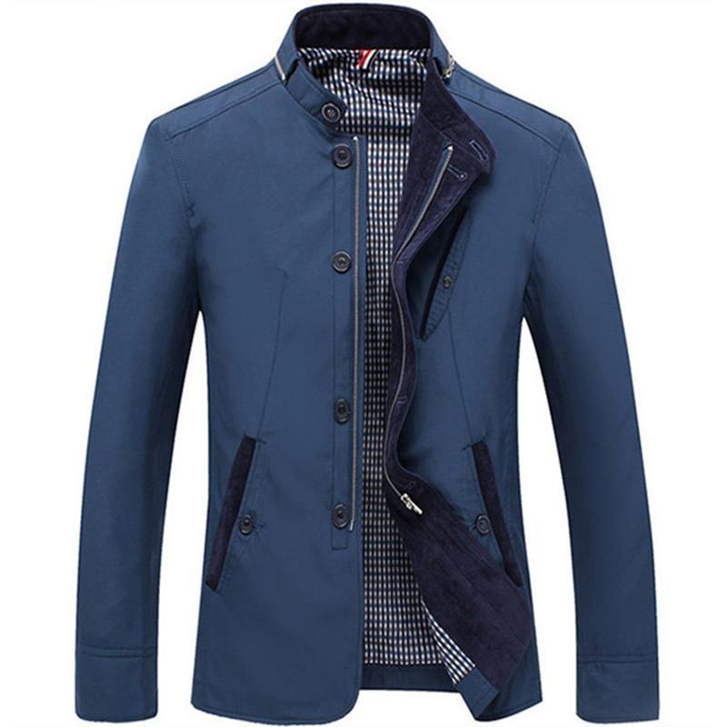 Zity Yüksek Kalite erkek Ceketler 2021 Erkekler Yeni Rahat Mont Bahar Düzenli Ince Ceket Kaban Erkek Giyim Artı Boyutu 4XL
