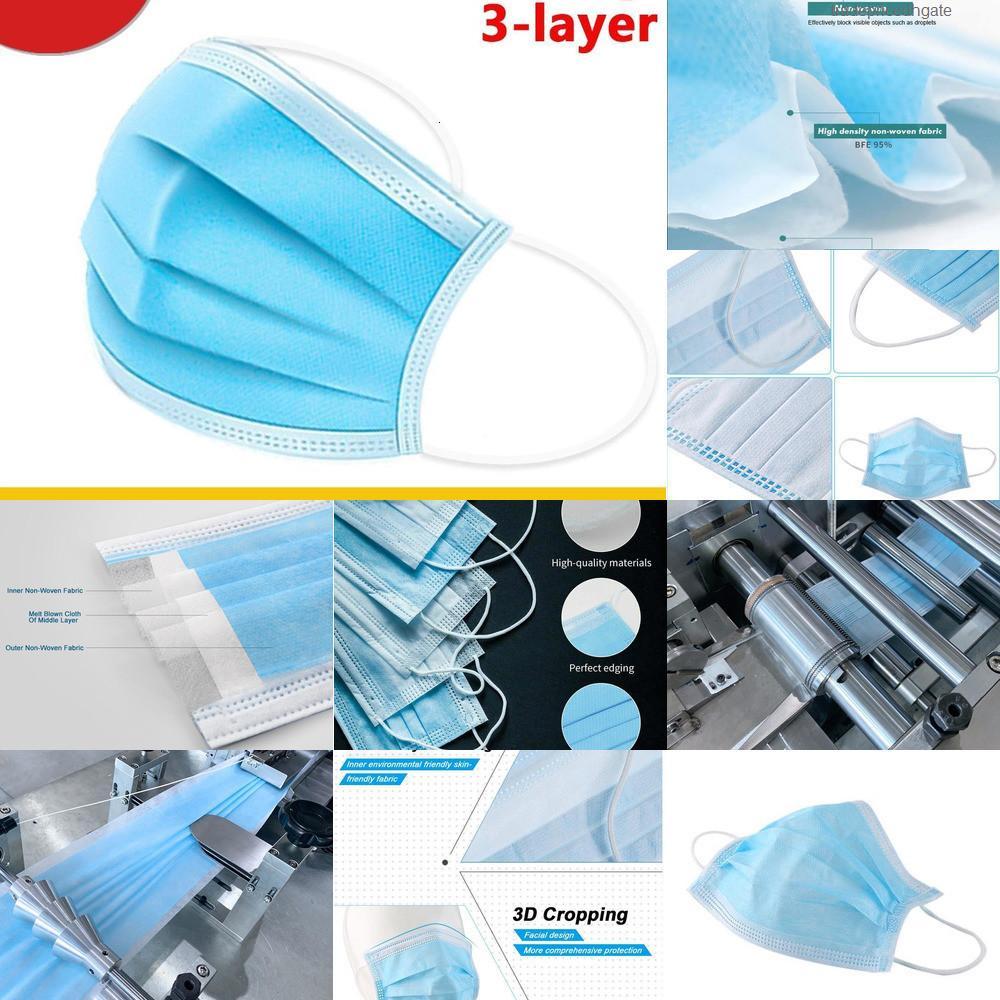 JETABLE 3-Layer Versand 50Factory Cne Masque Kostenlose Einwegmaske mit Holousinen-Mundgesichts-Sanitärmasken auf Lager