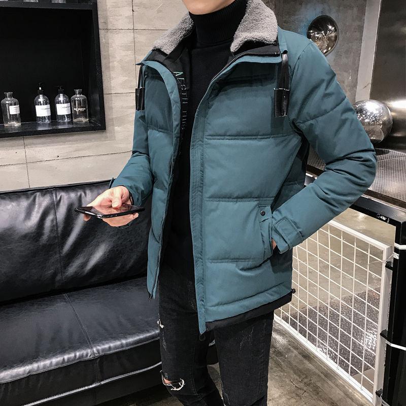 Новая зима вниз корейская тенденция стройная красивая молодежная хлопковая мягкая куртка утолщенная мужская пальто