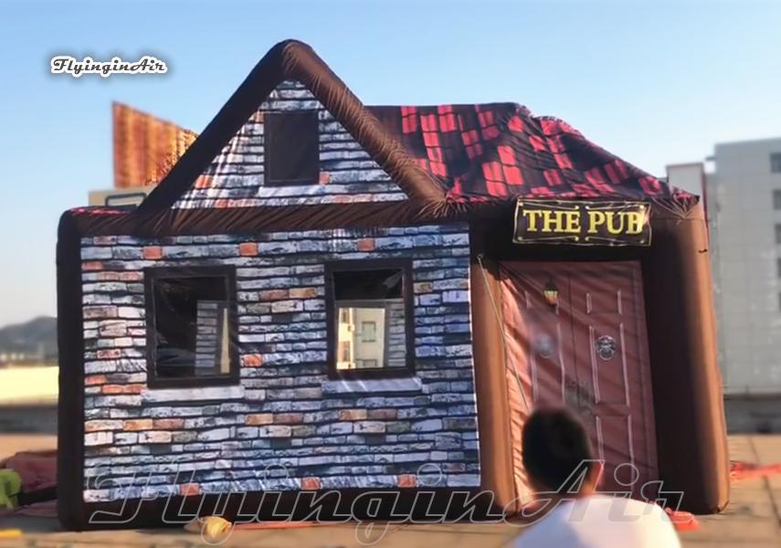 6m pub inflável ao ar livre Publicidade Publicidade Camping Party Barraca Air Brown Casa Pública Para Eventos do Clube