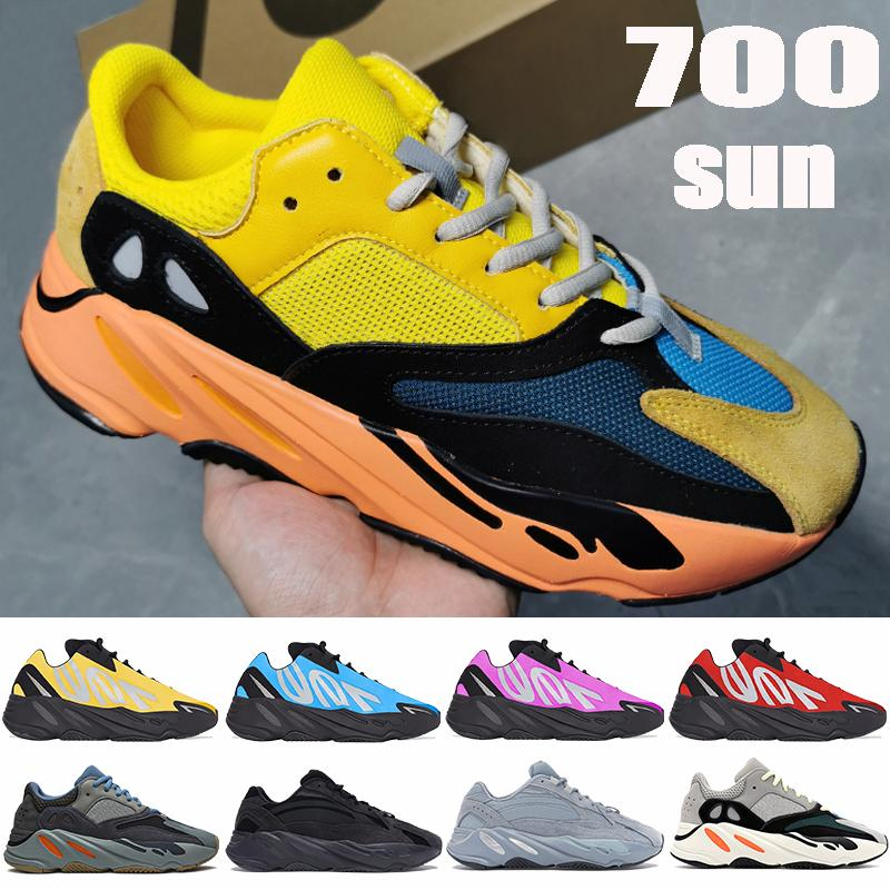 2021 New 700 v1 v2 MNVN running shoes Sun carbon blue yellow red Tie-dye OG Solid Grey reflective men women sneakers